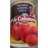 CABANON TOMATES ENTIERES PELEES 1/2