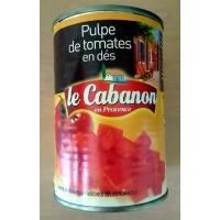 CABANON PULPE DE TOMATES EN DES 1/2