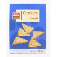 CRACKERS TRIANGLE 100G.BF