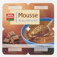 MOUSSE CHOC/LAIT X4    BF