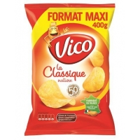 CHIPS NATURE 400GR.  VICO