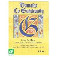 AOP COTES DU RHONE BIO DOM GUINTRANDY ROSE BIB 3L